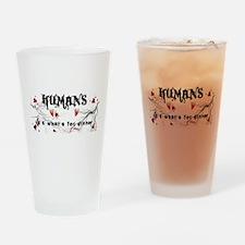 human logo.jpg Drinking Glass