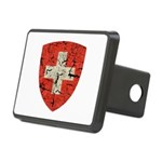 Swiss Coat of Arms Distressed Rectangular Hitch Co