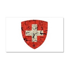 Swiss Coat of Arms Distressed Car Magnet 20 x 12