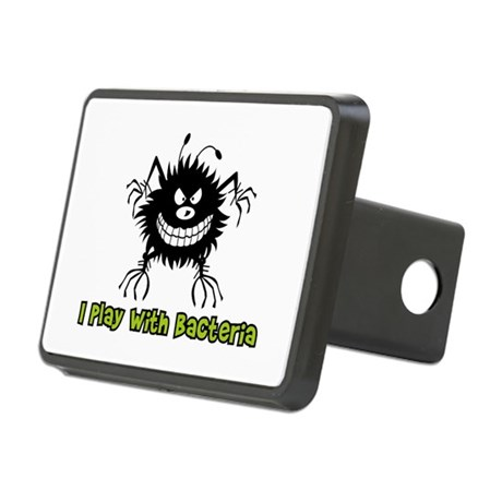I Play With Bacteria Rectangular Hitch Cover