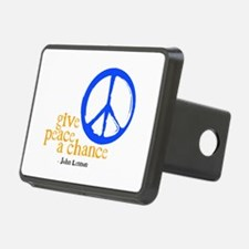 Give Peace a Chance - Blue & Orange Hitch Cover