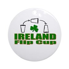 Funny Guiness beer Ornament (Round)