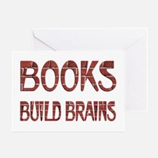 Books Build Brains Greeting Card