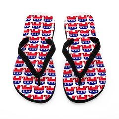 Republican Symbol FF Flip Flops
