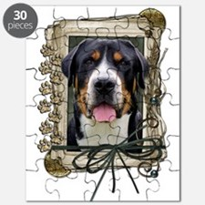 Fathers Day Stone Paws Swissie Puzzle