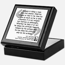 Gurdjieff Religion Quote Keepsake Box