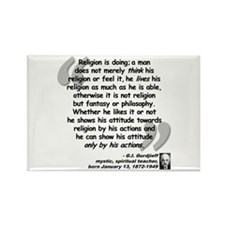 Gurdjieff Religion Quote Rectangle Magnet