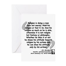 Gurdjieff Religion Quote Greeting Cards (Pk of 20)