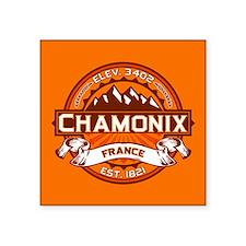 "Chamonix Tangerine Square Sticker 3"" x 3"""