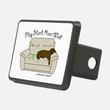 Chocolate Lab - Play Hard Hitch Coverl
