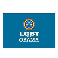 LGBT for Obama Postcards (Package of 8)