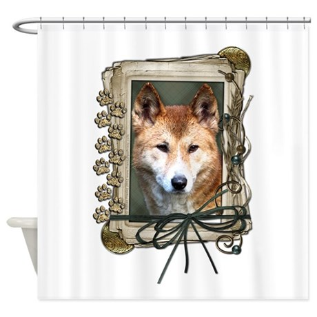 Fathers Day Stone Paws Dingo Shower Curtain