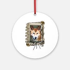 Fathers Day Stone Paws Dingo Ornament (Round)