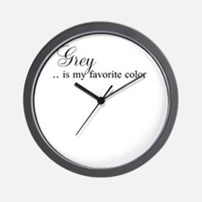 Grey .. is my favorite color Wall Clock