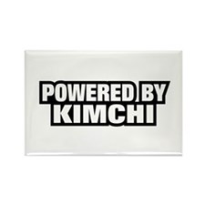 POWERED BY KIMCHI Rectangle Magnet (100 pack)