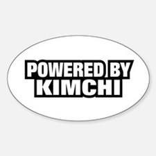 POWERED BY KIMCHI Oval Decal