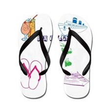 "Colorful ""Bon Voyage"" Flip Flops"