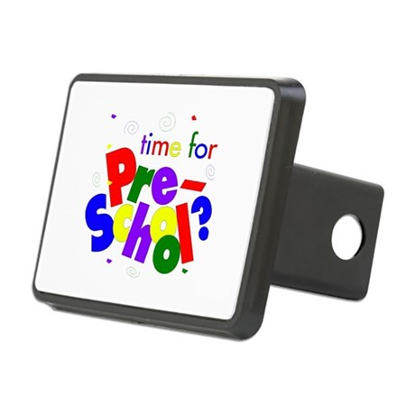 Time For Pre-School Rectangular Hitch Cover