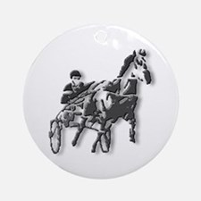 Pacer Black Silhouette Ornament (Round)