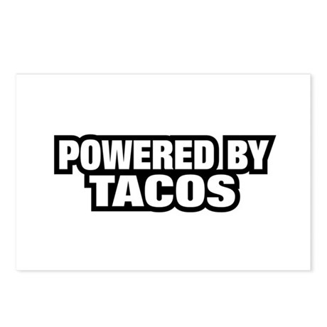 POWERED BY TACOS Postcards (Package of 8)