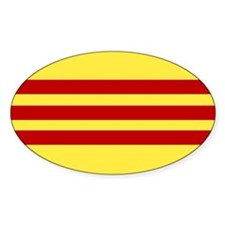 Flag of Free Vietnam Oval Decal