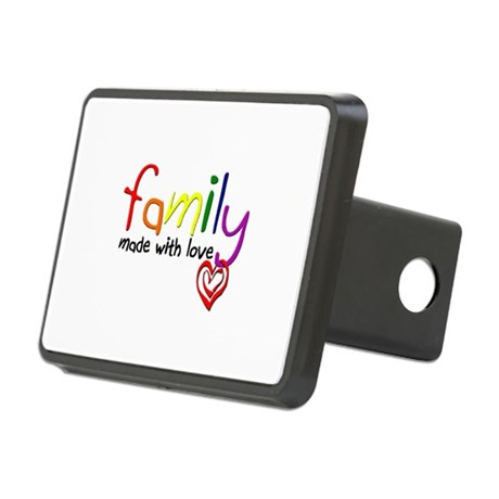 Gay Family Love Rectangular Hitch Cover