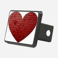 Diamond Plate Heart Rectangular Hitch Coverle)