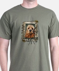 Fathers Day Stone Paws Cocker T-Shirt