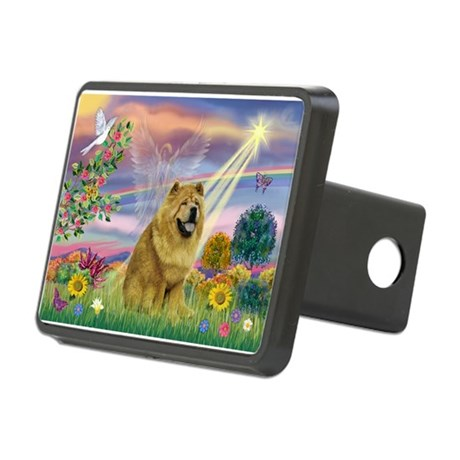 Cloud Angel & Chow Chow Rectangular Hitch Cover