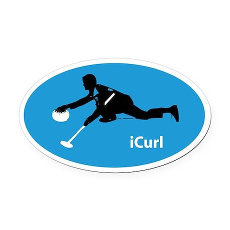 iCurl Oval Car Magnet