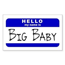 Big Baby Rectangle Decal