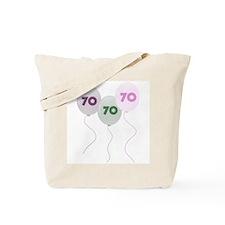 70th Birthday Balloons Tote Bag