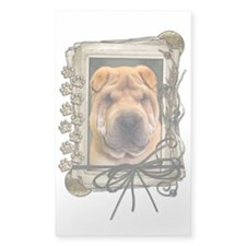 Fathers Day Stone Paws Shar Pei Decal