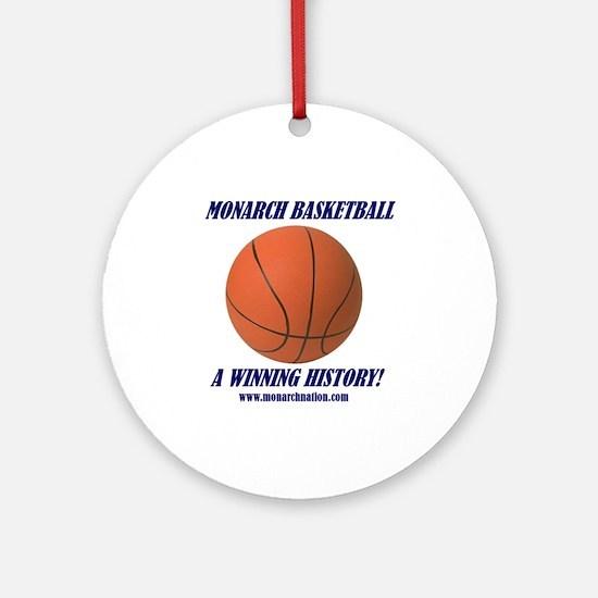 Monarch Basketball Ornament (Round)