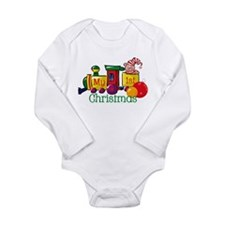 Train 1st Christmas Onesie Romper Suit