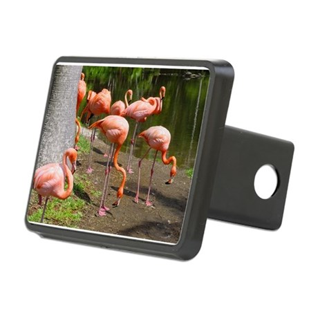 Flamingo Photo Art Rectangular Hitch Cover