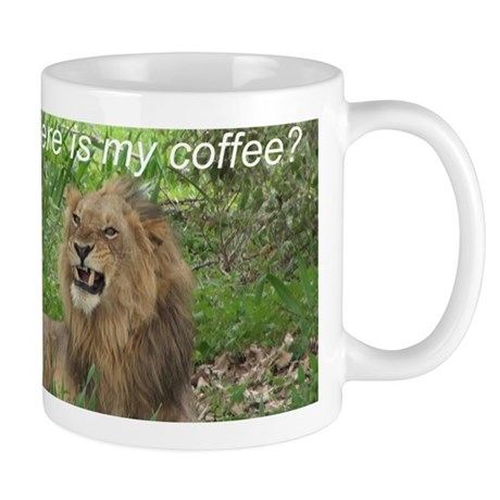 Angry Male Lion wants his coffee