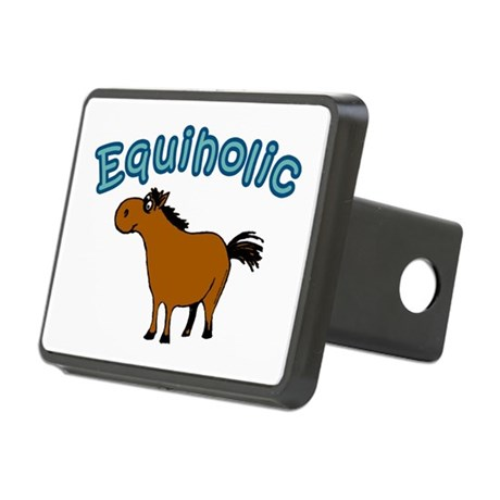 Equiholic. Horse Addict Rectangular Hitch Cover