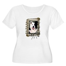 Fathers Day Stone Paws Border Collie T-Shirt