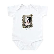Fathers Day Stone Paws Border Collie Infant Bodysu
