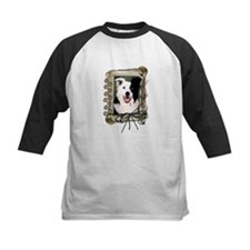 Fathers Day Stone Paws Border Collie Tee