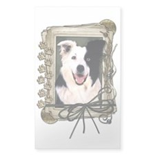 Fathers Day Stone Paws Border Collie Decal