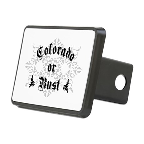 Colorado or Bust Rectangular Hitch Cover