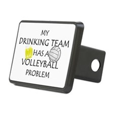 Drinking team has volleyball Hitch Cover
