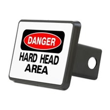 Danger Hard Head Area Hitch Cover
