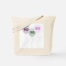 90th Birthday Balloons Tote Bag