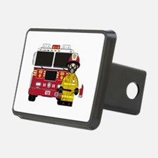 Firefighter and Fire Engine Hitch Cover