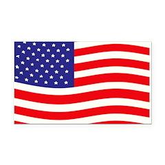 USA Flag Wave Rectangle Car Magnet