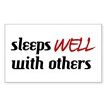 Sleeps Well With Others Rectangle Sticker