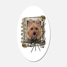 Fathers Day Stone Paws Aussie Terrier 22x14 Oval W